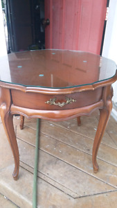 2 french provincial style side tables