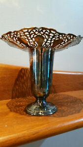 Silver Plate Vase  - Cluny  - Wm A Rogers Silver 8843