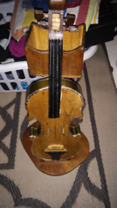 Wooden fiddle stand