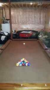 Brunswick burgundy pool table