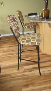 TWO BAR CHAIRS FOR SALE.