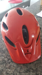 Orange cycling helmet Triple 8 great condition