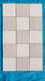 New Ceramic Wall Tiles, Cream and Light Chocolate Wall