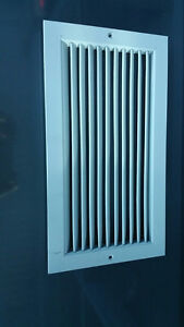 18 in by 9 5/8 in rectangular ventilation grilles