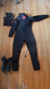7mm Women Wetsuit for kite SUP surf wake