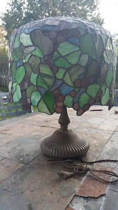 """Stunning Tiffany inspired stained glass table lamp 30"""""""