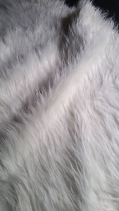 Over 6 ft of Fuzzy fabric - photography prop