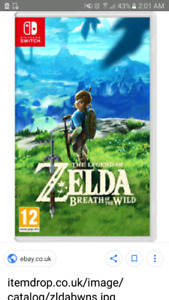Looking for legend of zelda breath of the wild for switch
