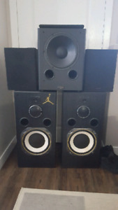 Speakers 12 inch subs+powered sub 12 inch