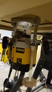 Dewalt Router DW625, INCRA router plate and router extension