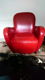 Leather club style chair