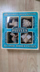 Wooden puzzles brand new.