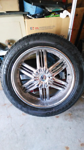 305/45 R22 Sumitomo HTR sport rims and tires