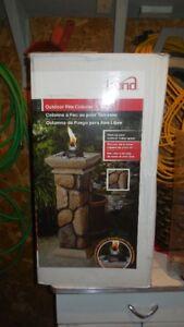 Colonne à feu pour patio
