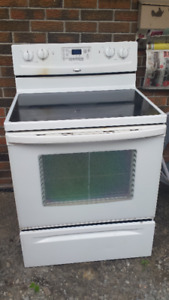 Self Cleaning Glass top stove