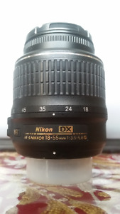 Used Nikon AF-S DX 18-55mm f/3.5-5.6G VR and lens accessories