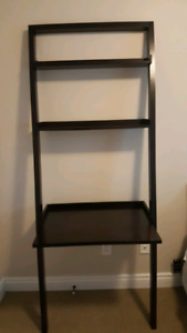 Leaning desk with two shelves