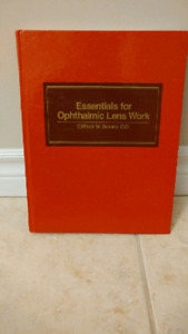 Essential for Ophthalmin Lens Work