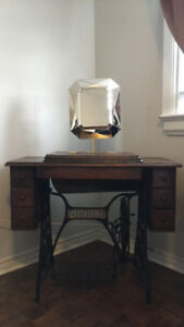 Vintage Singer sewing machine with table stand