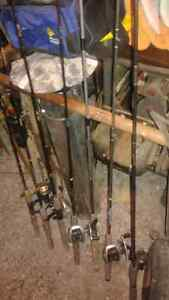 Huge lot of quality fishing rods, reels, tackle and more