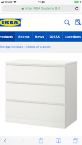 WHITE DRESSER, perfect condition!