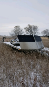6 place sled bed snowmobile trailer