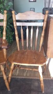 FOUR OAK DINING CHAIRS