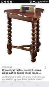 Old wooden stand end table