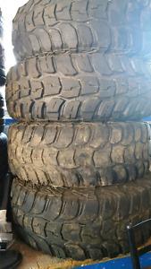 Kumho road venture mt tires on rims