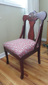 Antique upholstered chair- mahogany