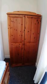 Pine wardrobe. W38 h70 d21. Llantarnam cwmbran