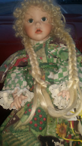 "25"" HILARY DIANA EFFNER PORCELAIN PLATINUM DOLL ULTIMATE 1987"
