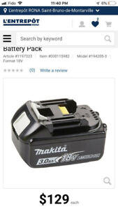 Makita 3Ah batteries / Batteries Makita 3Ah  - NEW