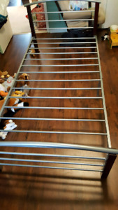 Single bed frame great condition with Ikea matress