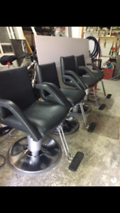 4 Chaises de Coiffure / Hairdresser chairs