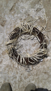 Barb wire wreaths