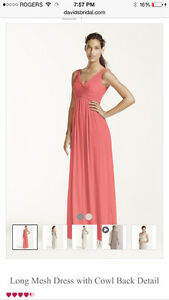 David's Bridal Coral Dress Cambridge Kitchener Area image 1