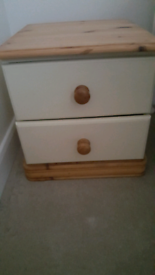 Large double door wardrobe and 2 bedside cabinets