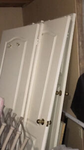 13 interior doors, various sizes with some hardware.  $200 OBO.