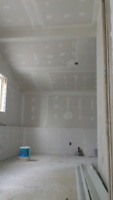 Drywall taping and stucco removal