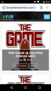 2 tickets to The Game concert on Jan.26