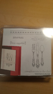 "Stampin Up Stamps ""COMPLIMENTS TO THE CHEF"" Scrapbooking"