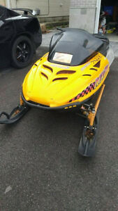 Skidoo mxz 670 new rebuild and new studded track