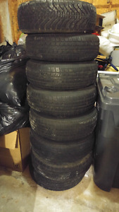 Tires on rims for sale $75 a piece.