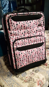 Pink Polka Dot Suitcase For Sale