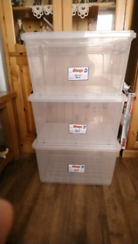 3 plastic 42L each one / storage boxes/ original price payed £12 each