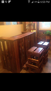 Custom made pallet furniture