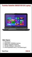 Like New Toshiba Satellite A10 S855D laptop $375