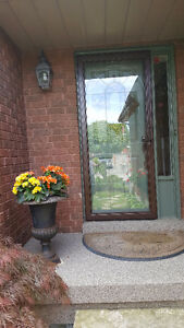Insulated Storm Door -with glass and interchangeable screen