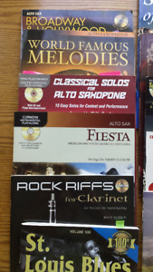 music play along books for clarinet and sax
